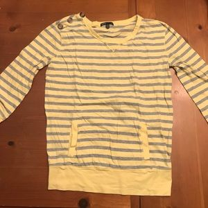Yellow and gray striped shirt